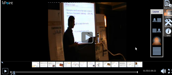 Karan presenting on Solr at Indic Threads Java conference...